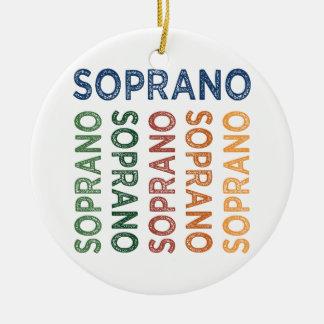 Colorido lindo del soprano adorno redondo de cerámica