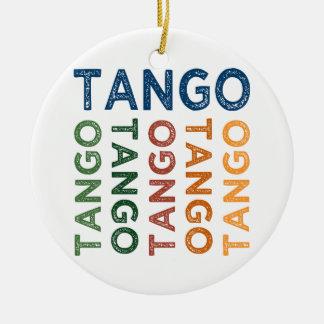 Colorido lindo del tango adorno redondo de cerámica