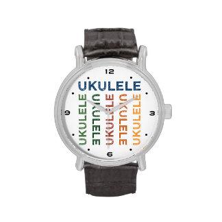 Colorido lindo del Ukulele Relojes De Pulsera