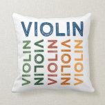 Colorido lindo del violín cojin