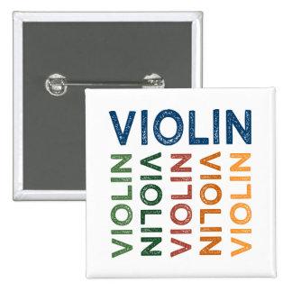 Colorido lindo del violín pin cuadrado
