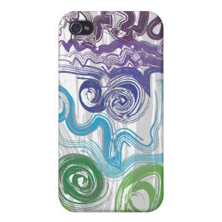 Colorido maravilloso iPhone 4 carcasa