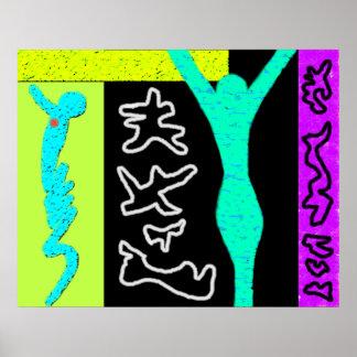 Colorido moderno del ~ del arte moderno del ~ de l poster