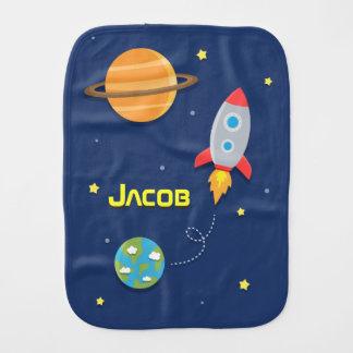 Colorido, nave de Rocket de espacio, para los bebé Paños Para Bebé