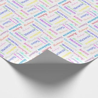 Colorido personalizada papel de regalo