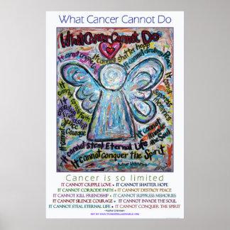 Colorido qué cáncer no puede hacer la impresión póster