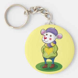 Colorido Ratón. Mouse. Keychain