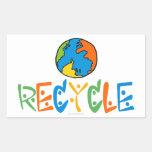 Colorido recicle pegatina