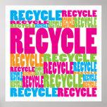 Colorido recicle poster