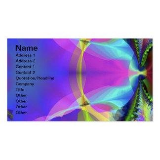 colorido tarjeta de negocio