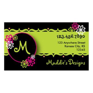 Colorido, tarjeta del diseñador de la diversión tarjetas de visita