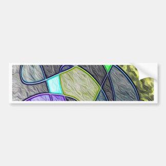 colorido tragada etiqueta de parachoque