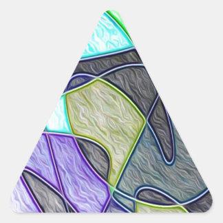 colorido tragada calcomanía triangulo personalizadas