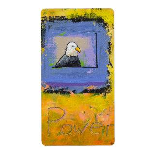 Colorido único del retrato colorido del arte etiqueta de envío