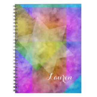 Colorido vibrante de la acuarela del bloque del libro de apuntes