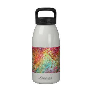 Colorido y reluciente vidrioso-como diseño de la c botellas de agua reutilizables