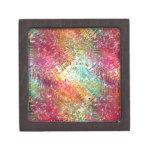 Colorido y reluciente vidrioso-como diseño de la c cajas de regalo de calidad