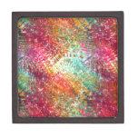 Colorido y reluciente vidrioso-como diseño de la c caja de recuerdo de calidad