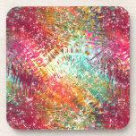 Colorido y reluciente vidrioso-como diseño de la c posavasos