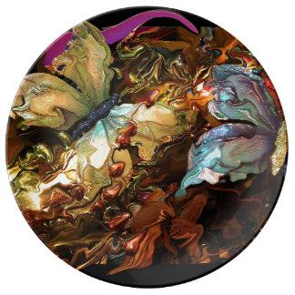 Coloring Butterflies Plate