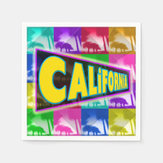 """Coloring California 2"" Napkins Standard Cocktail Napkin"