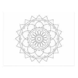 Coloring Fun - Mandala 1 Postcard
