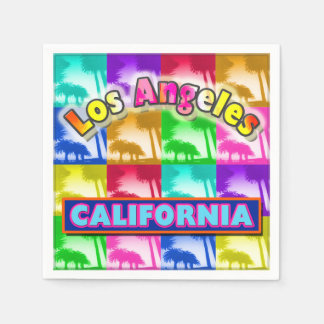 """Coloring Los Angeles 2"" Paper Napkins"