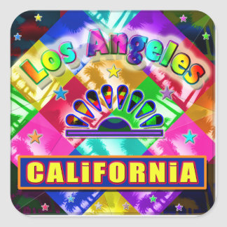 """""""Coloring Los Angeles 4"""" Sticker Stickers"""