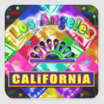 """Coloring Los Angeles 4"" Sticker Stickers"