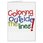 Coloring Outside the Lines Card