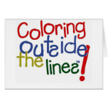 Coloring Outside the Lines Greeting Card