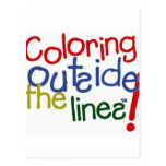 Coloring Outside the Lines Postcard