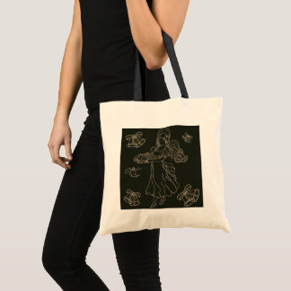 Coloring page Color your own Illustrated Angel Tote Bag