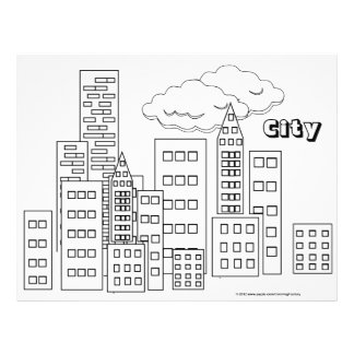Coloring Pages- City - 25 Pack Personalized Flyer