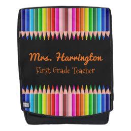 Coloring Pencils custom text backpack