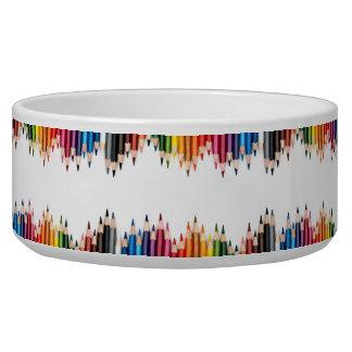 Coloring pencils pattern art,cute,fun,kids,girly, pet food bowls