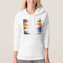 Coloring pencils pattern art,cute,fun,kids,girly,t hoodie
