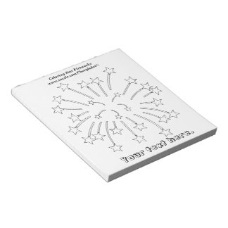 Coloring Star Fireworks Outline Notepads