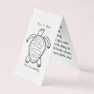 Coloring Turtle Parking Prank Card