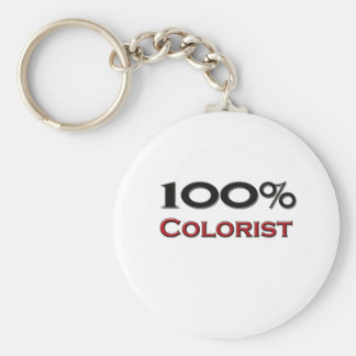Colorist del 100 por ciento llavero redondo tipo pin