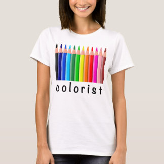 Colorist Spectrum of Colored Pencils Illustration T-Shirt