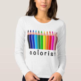 Colorist Spectrum of Colored Pencils Illustration T Shirts