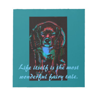 Colorized Dream Pup Bella A King Charles Cavalier Notepad