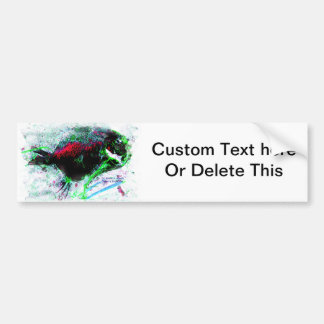 Colorized dried fish on beach picture bumper sticker
