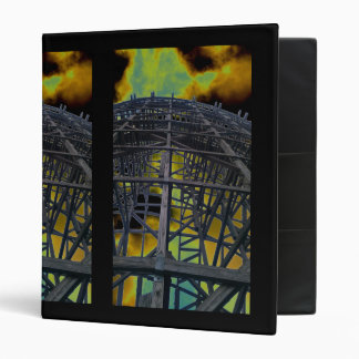 Colorized Evil Wooden Coaster 3 Ring Binder