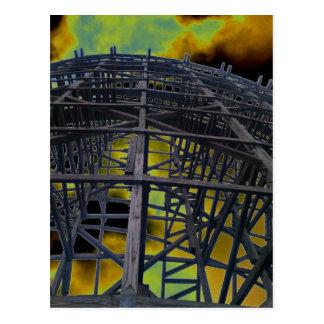 Colorized Evil Wooden Coaster Postcards