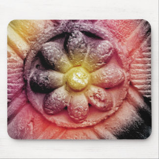 colorized flower mouse pad