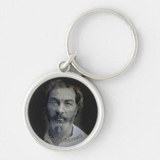 Colorized Portrait of Poet Walt Whitman Keychain