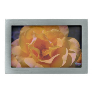 Colorized Rose Rectangular Belt Buckle