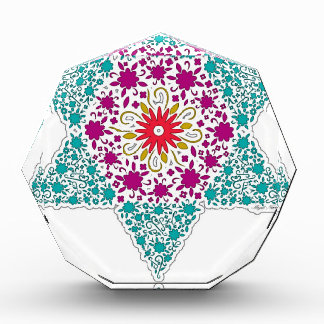 Colorized Star of David Seal design in Jerusalem Acrylic Award